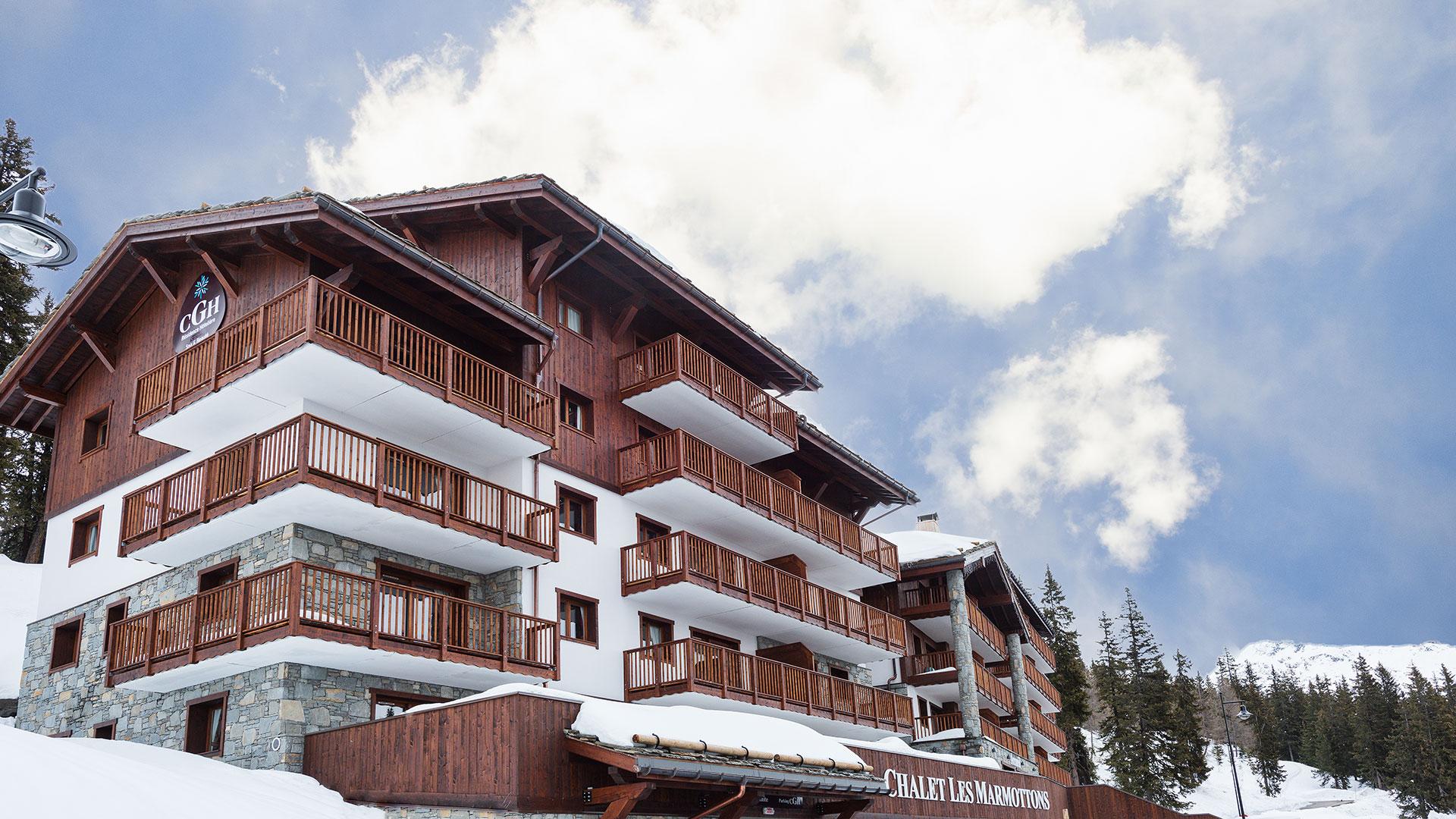 Extérieur hiver, Le Chalet Les Marmottons - CGH Résidences