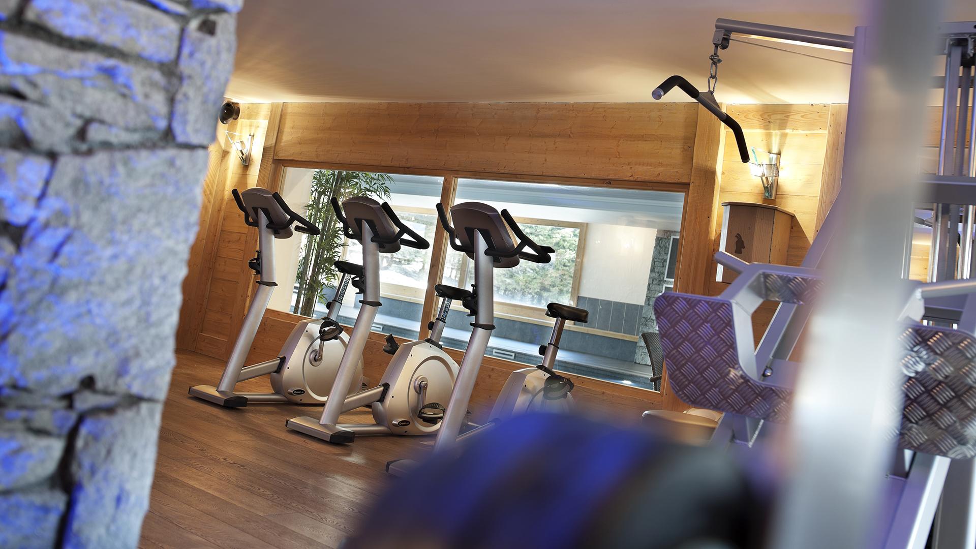Salle de cardio training, Les Chalets de Jouvence - CGH Résidences