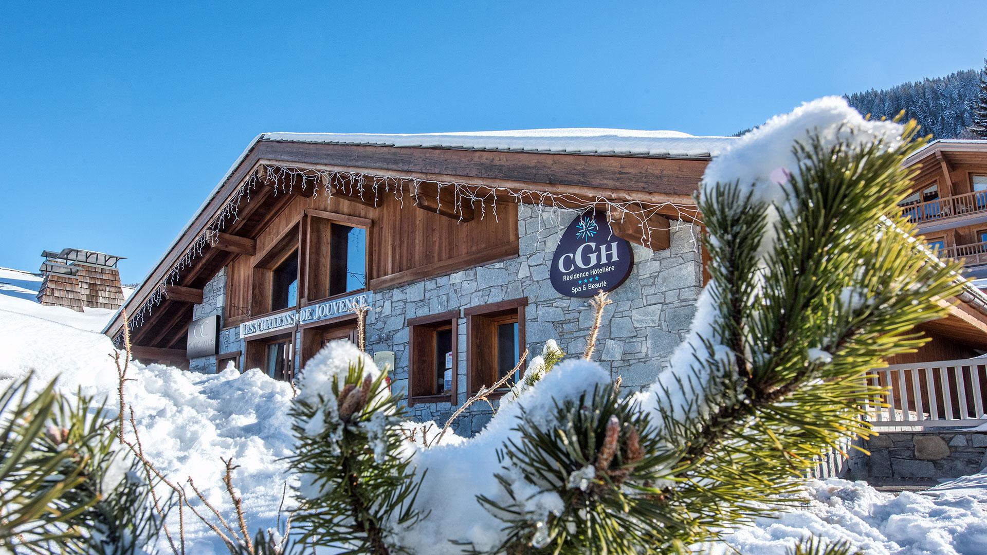 Extérieur hiver, Les Chalets de Jouvence - CGH Résidences