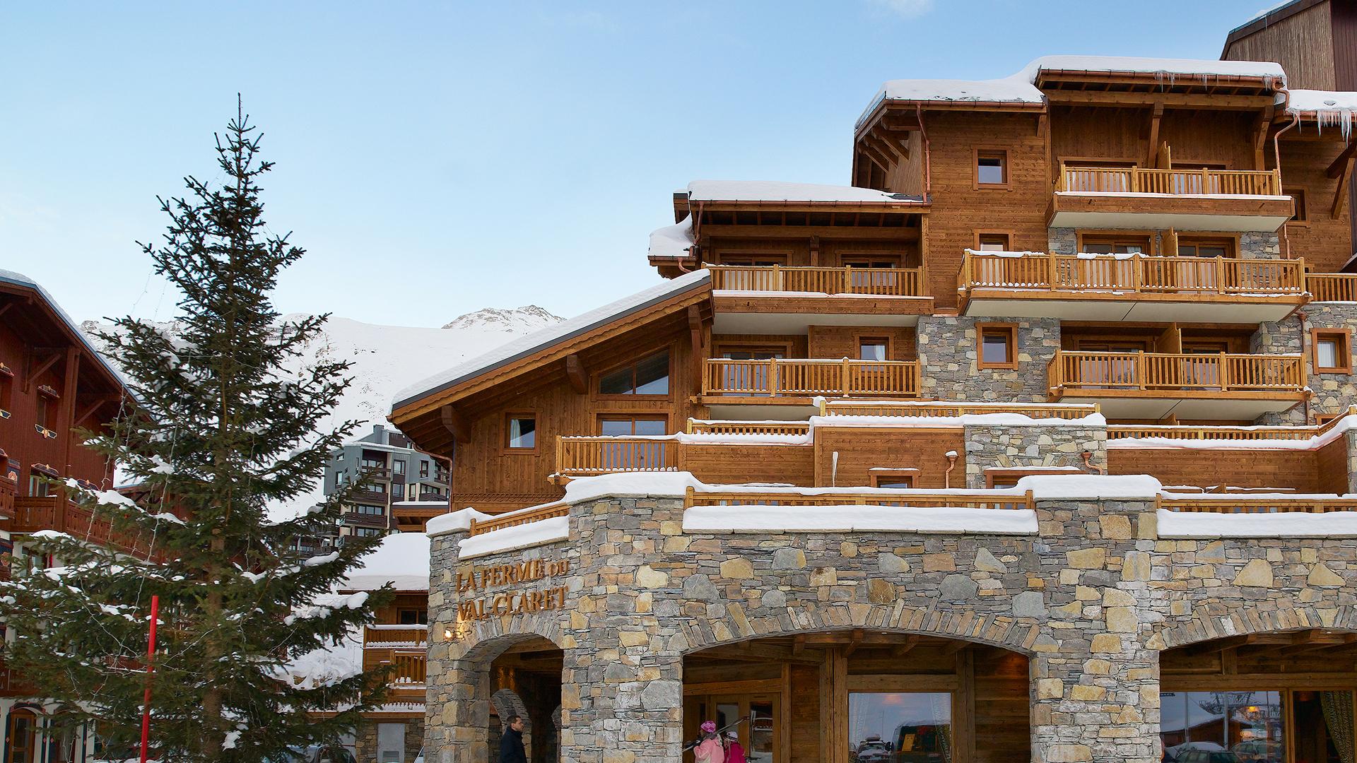 Extérieur hiver, La Ferme du Val Claret - CGH Résidences