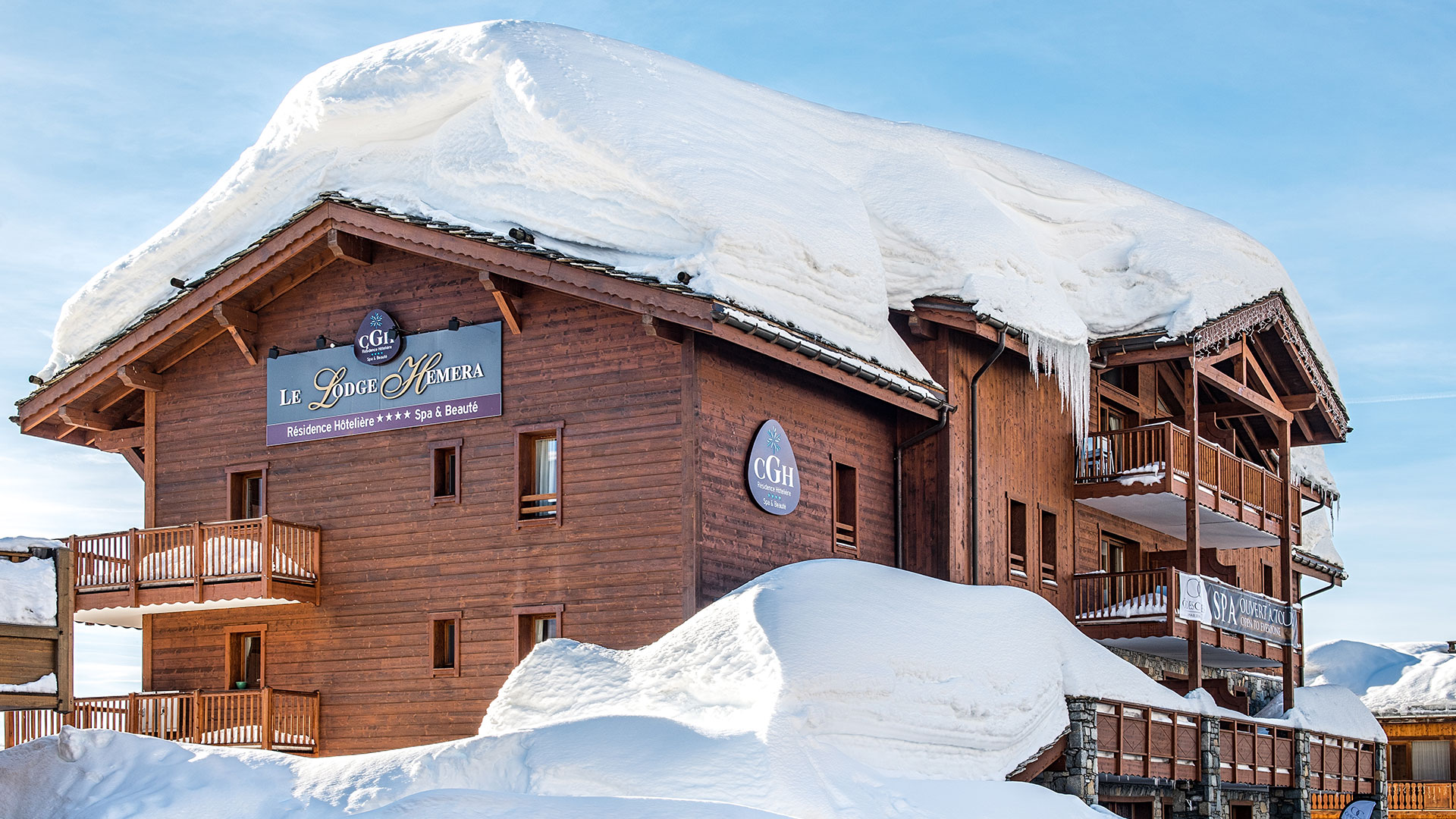 Extérieur hiver, Le Lodge Hemera - CGH Résidences